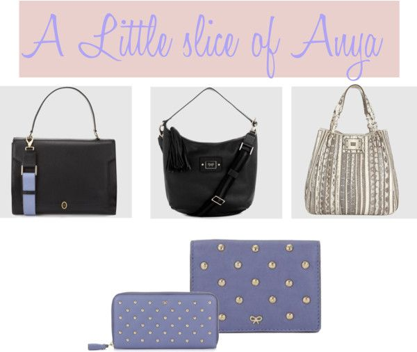 """""""A slice of Anya Hindmarch"""" by seasonsuk ❤ liked on Polyvore"""