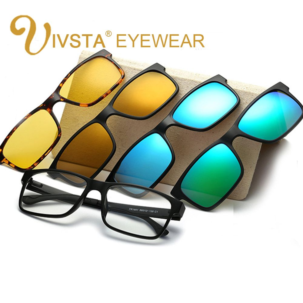Ivsta Include Frame Polarized Clip On Sunglasses Men Tr90 Custom  # Muebles Sunnies
