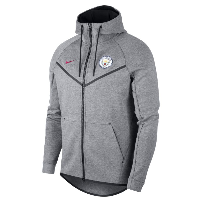 63dd844e81 Manchester City FC Tech Fleece Windrunner Men s Jacket - Grey ...