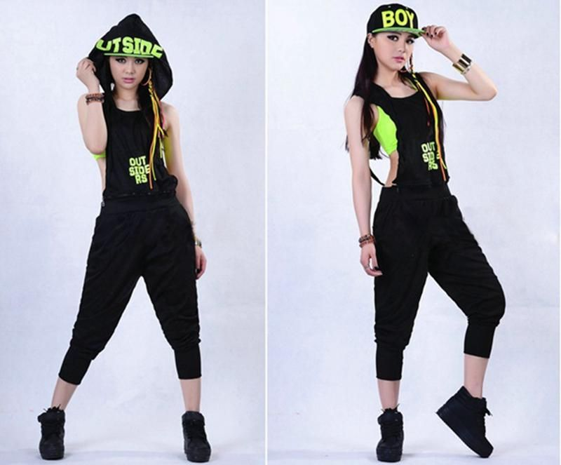 1668867cbf3 New Fashion Women Hip Hop Dance Costume Performance Wear Jazz Sports Jumpsuits  Jumpsuits Hip Hop Dance Online with 29.67 Piece on Cookies502 s Store ...