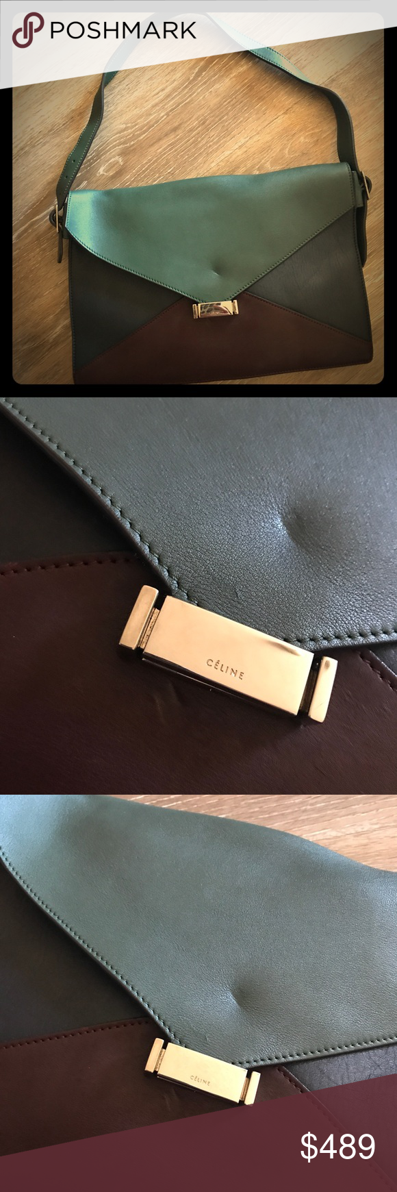 c80290d2320d Celine envelope clutch calfskin leather purse bag New w o tags from  Barney s New York