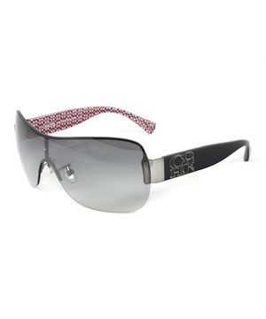 bc64f9a7e3 Another great find on  zulily! Coach Dark Silver   Pink Aubree Shield  Sunglasses by Coach  zulilyfinds