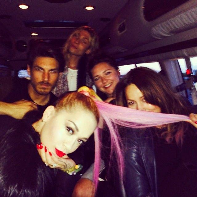 Rita Ora's pink ponytail