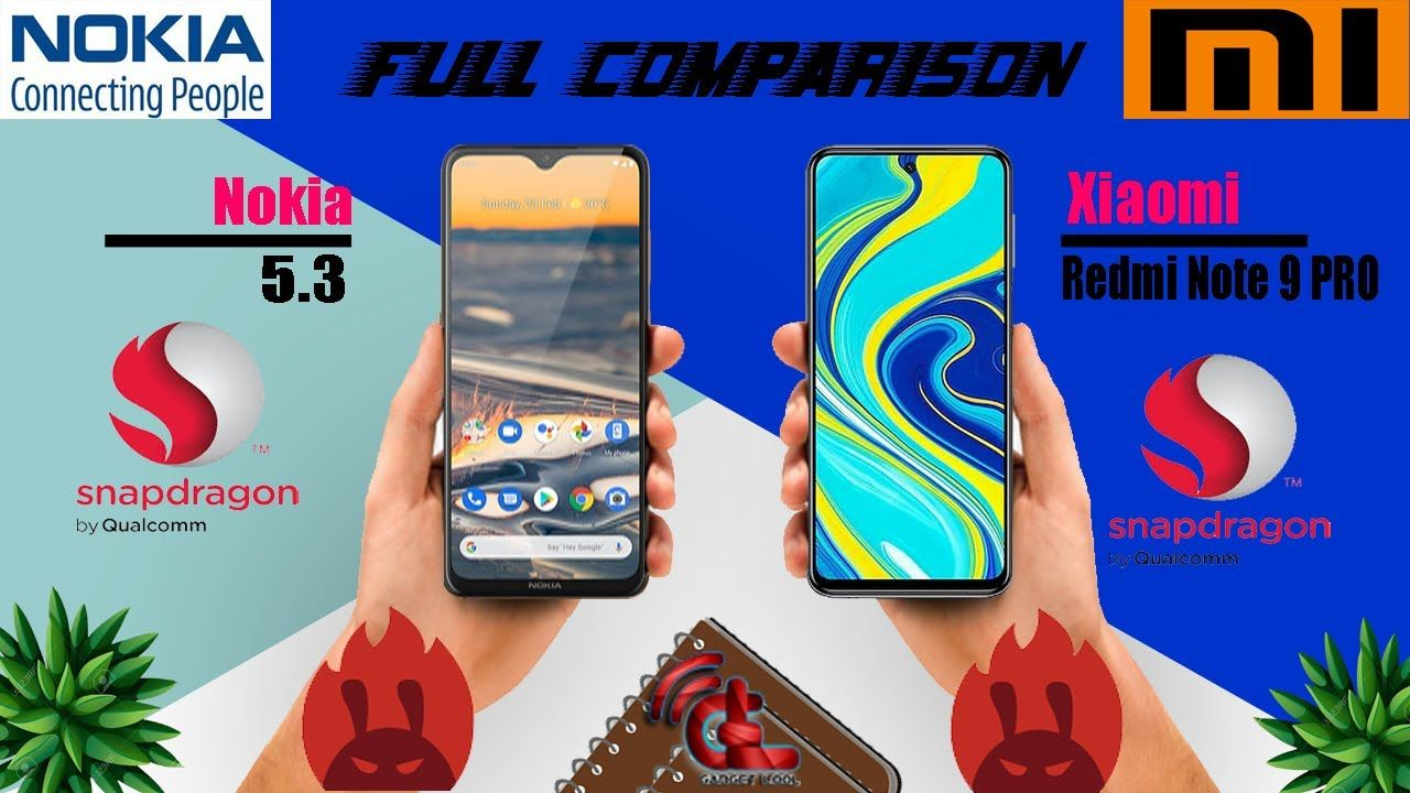Nokia 5.3 vs Xiaomi Redmi Note 9 PRO Full Comparison