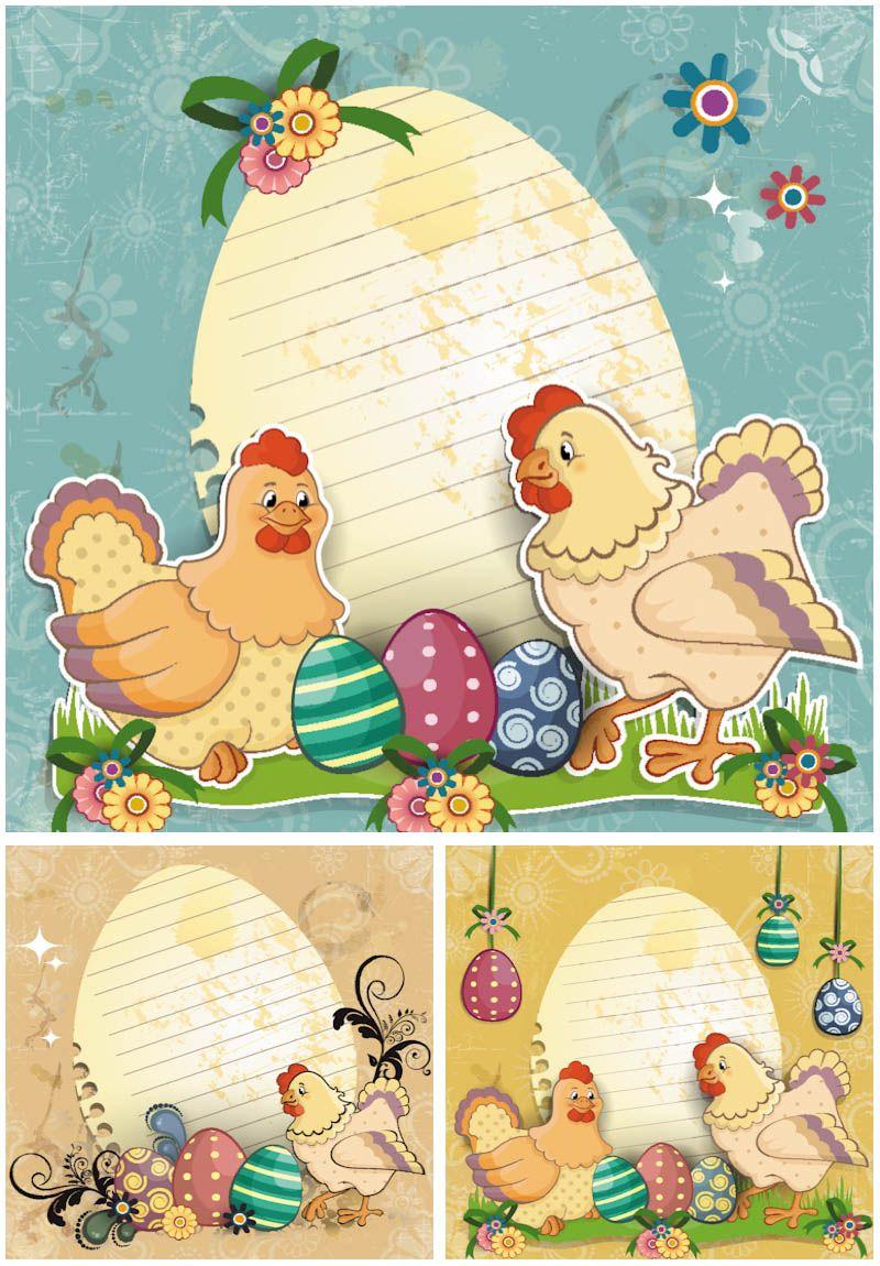 Vintage Easter Cards Vector  Easter    Vintage Easter