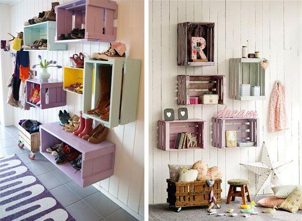 Ideas para decorar con cajas de frutas by artesydisenos - Como decorar cajas de madera de fruta ...