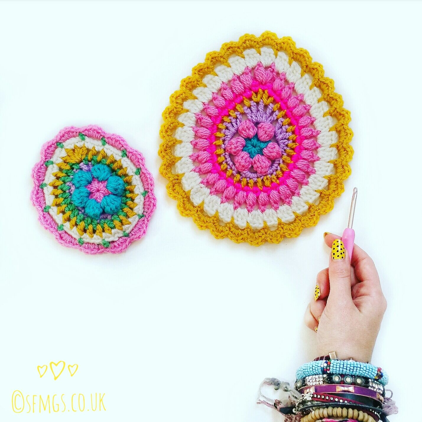 Mini Easter Egg Mandala | Free Crochet Pattern - Make a smaller ...