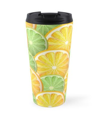 Juicy lime and orange pattern by Maria-So