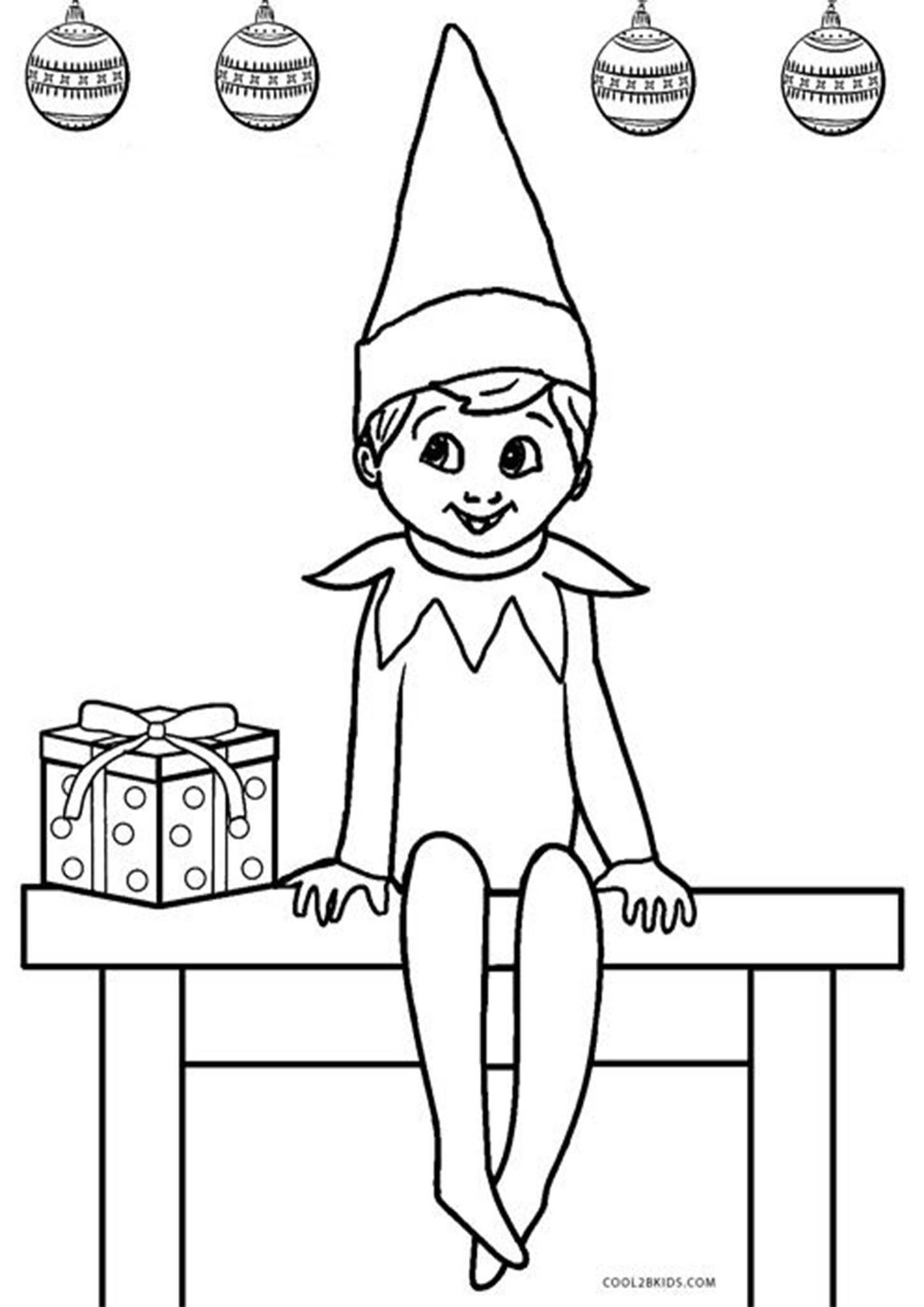 Free Printable Elf on The Shelf Coloring Pages  Printable