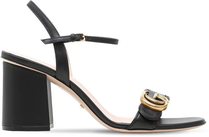 5dde4d1bd99 Gucci 75mm Marmont Gg Leather Sandals
