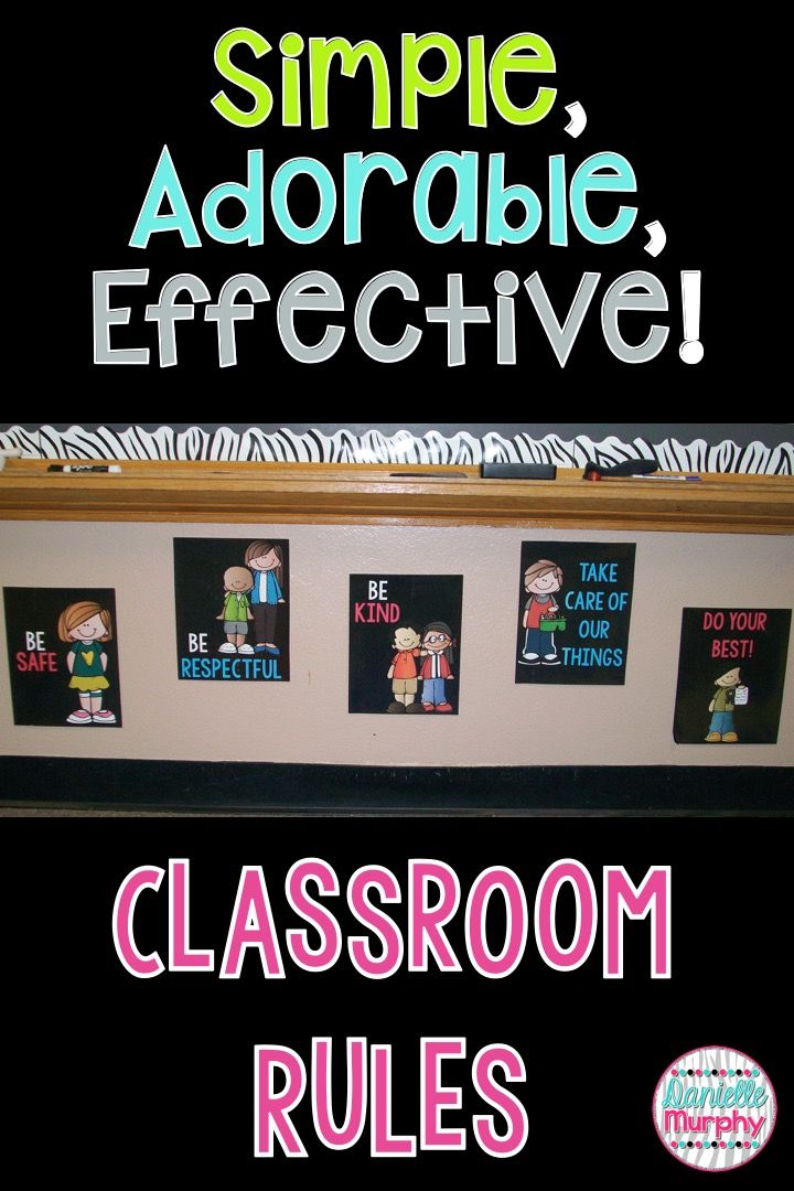 Cute rules posters!  Easy for students to understand!