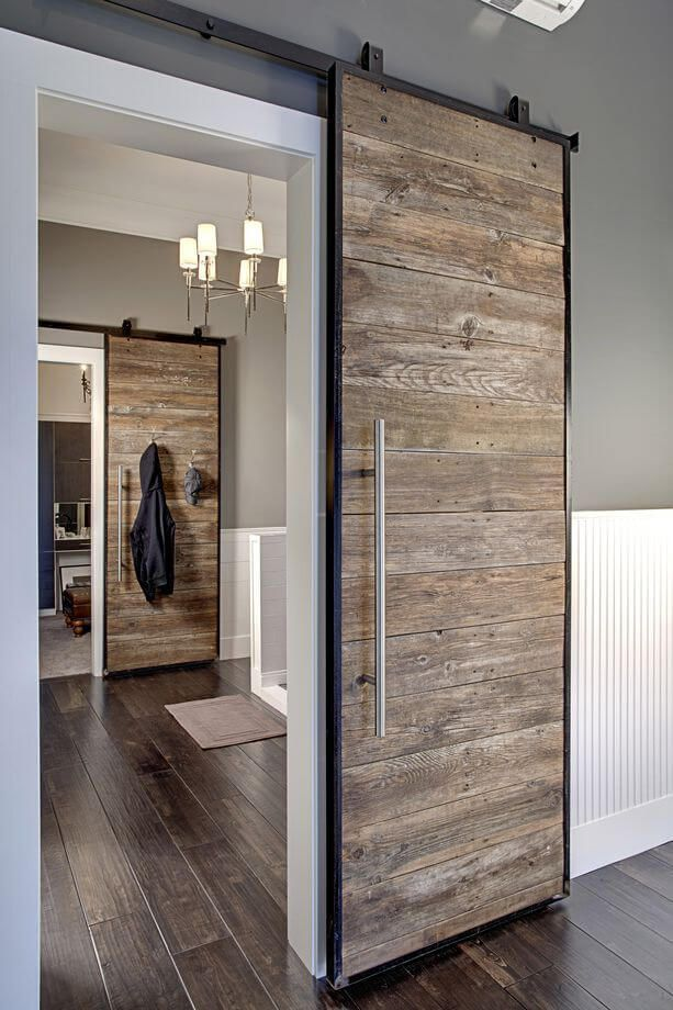 Pacific Driftwood Sliding Wood Doors Interior Barn Doors
