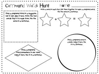 Pitner's Potpourri: Compound Word Hunt -- Freebie
