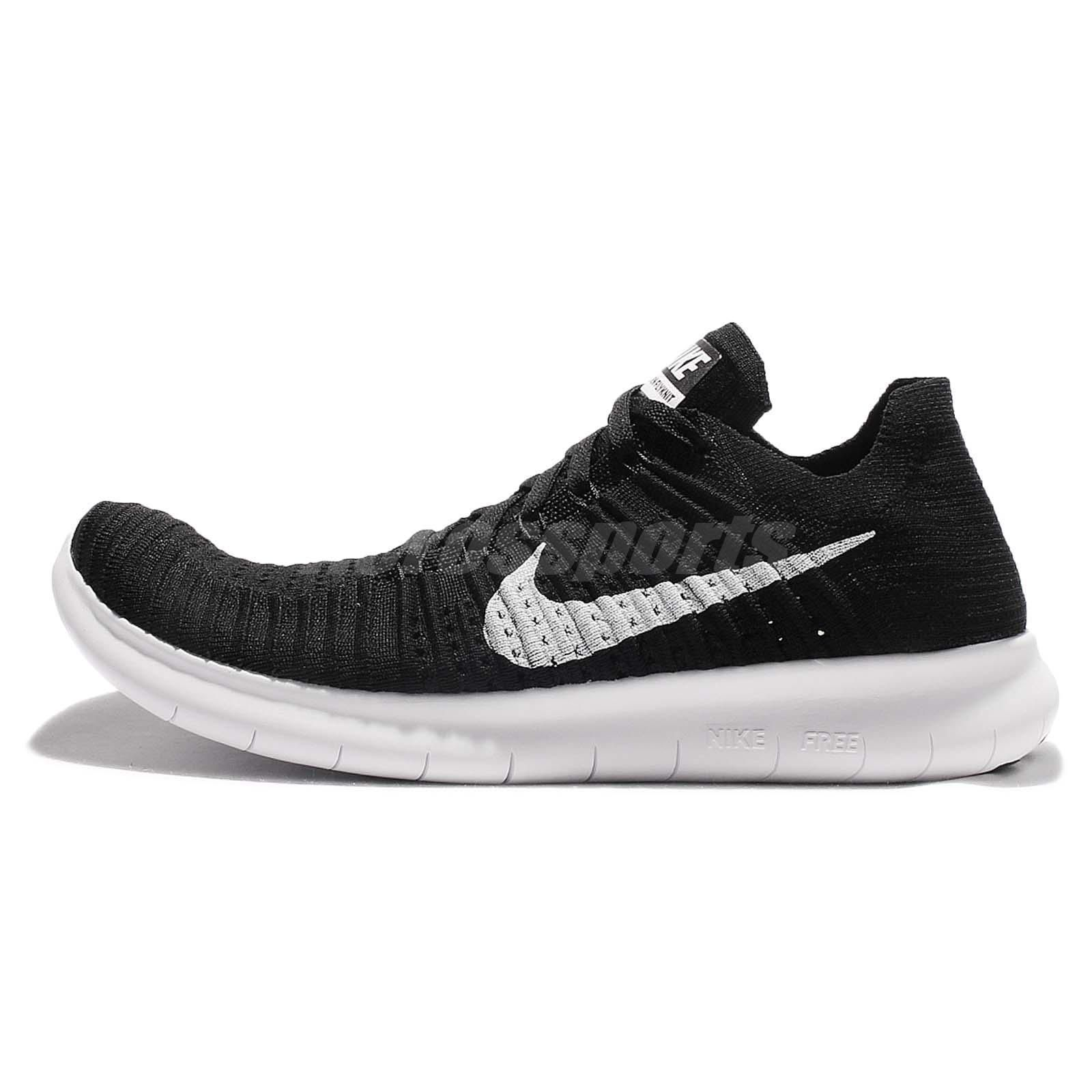 Nike Free RN Flyknit 4.0 Run Black White Mens Running Shoes Trainers  831069-001