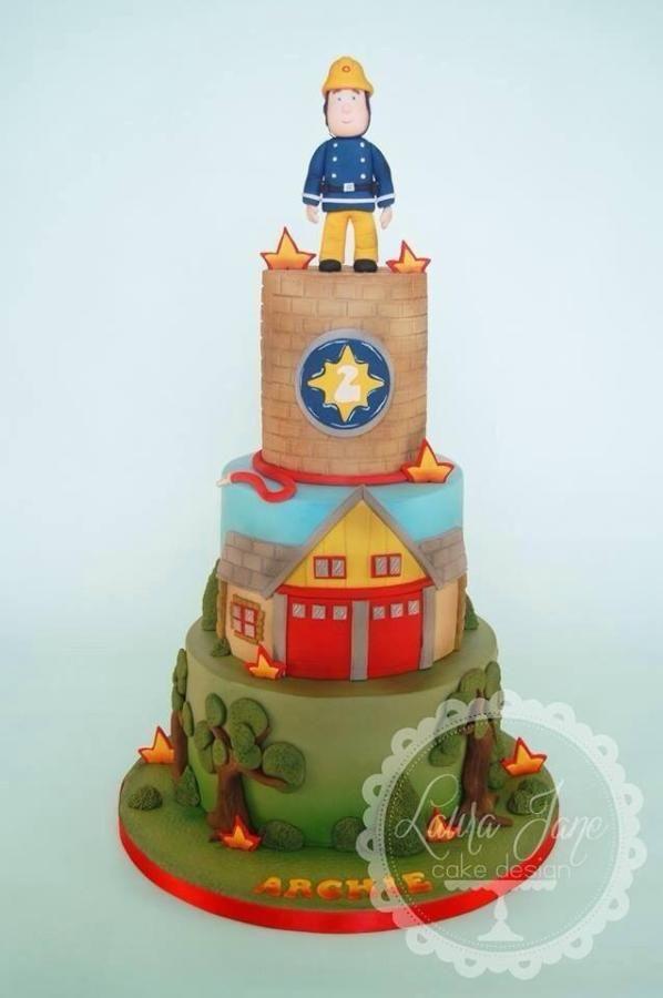 Fireman Sam Cake Firefighter Cakes Pinterest Fireman Sam Cake