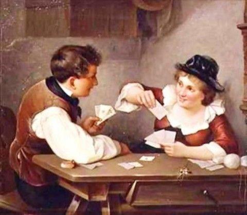 Вильгельм Флокенхауз. Игра в карты   Игры в карты