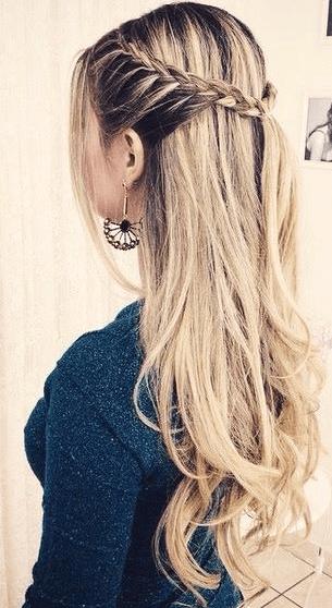 Peinados Con Trenzas Semirecogidos Sencillos
