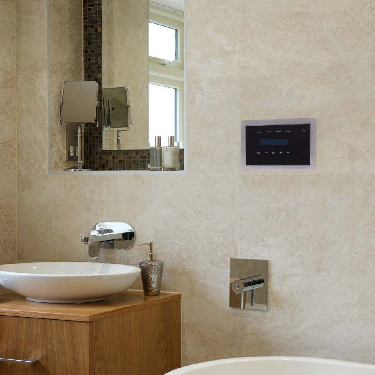 Proofvision Elite Bathroom Music System Listen To Your Favourite Tracks While You Get Ready Bathroom Music House Bathroom Tv In Bathroom