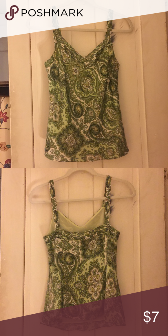 Ann Taylor tank Beautiful silk dress tank top. Brand new like condition. Sorry no trades. Ann Taylor Tops Tank Tops