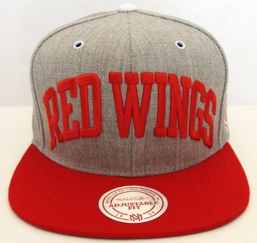 f5cb6855119 Detroit Red Wings Mitchell   Ness Wool Retro Grey Red Hat Cap Snapback .   25.50.