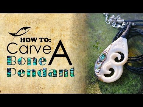 Tutorial Bone Carving How To Carve A Bone Pendant With Abalone Inlay Youtube Bone Carving Bone Crafts Bone Pendant