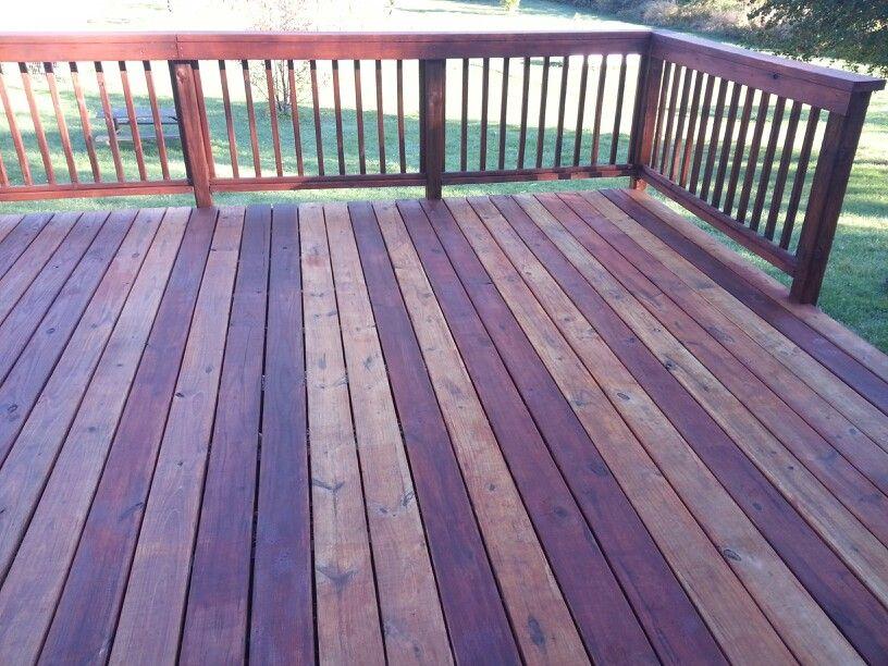 Varigated deck stain i used cabot australian timber oil for Australian hardwood decking