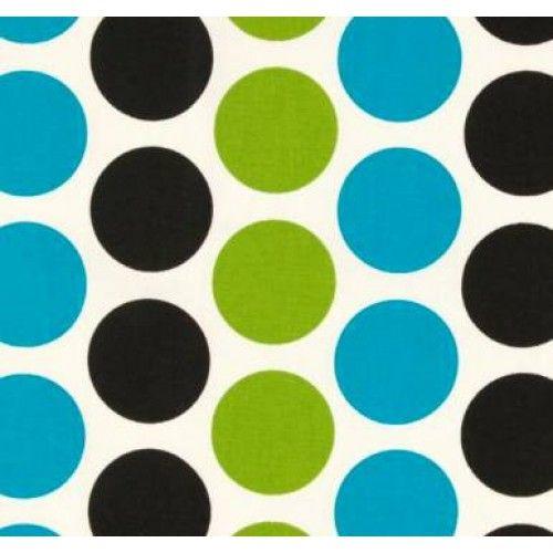 Jumbo Polka Dot In Chartreuse Blue