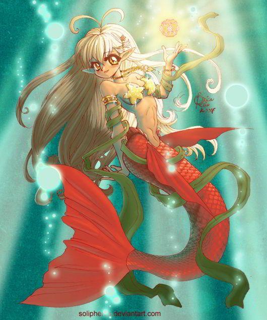 Coloring Hypergeneric. Mermaid