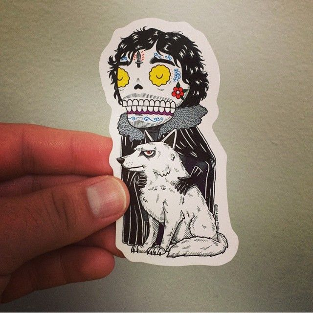 Another successful kickstarter sticker campaign by our friend misnopales yep john fucking snow