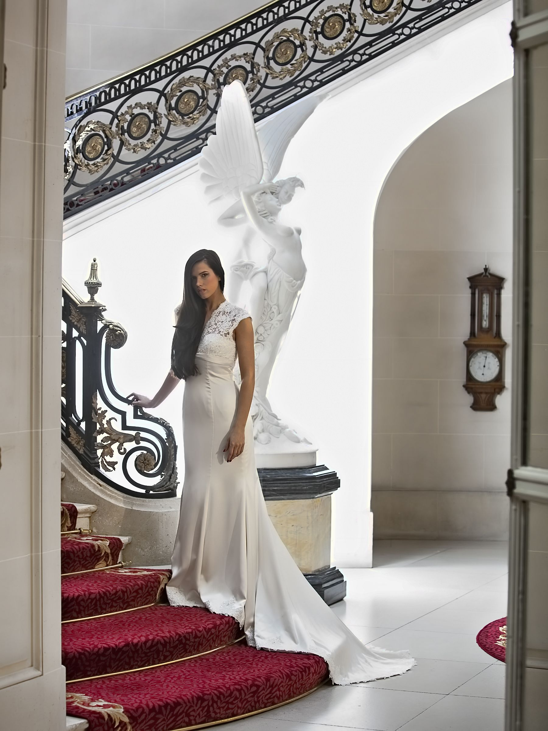 Beautiful and stylish on the marble staircase at Luton Hoo Hotel ...