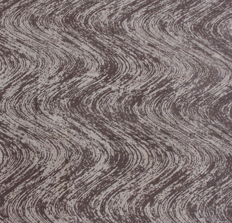 Yards Indian Block Print Brownish Grey Color Fabric Wood Printed 100 Cotton Soft Dabu Mud Resist Hand HPS243