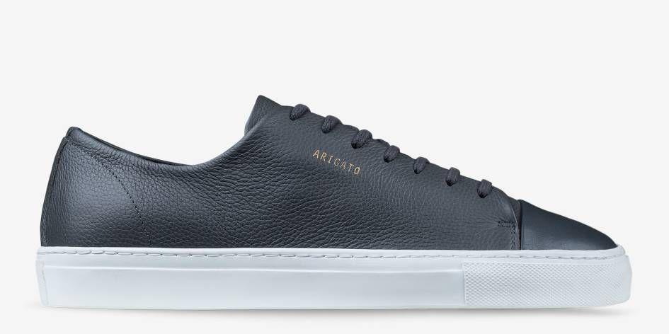 Toe Sneaker Cap Dark Grey Arigato Axel Shoes Leather Marty's Men t1wqEgax