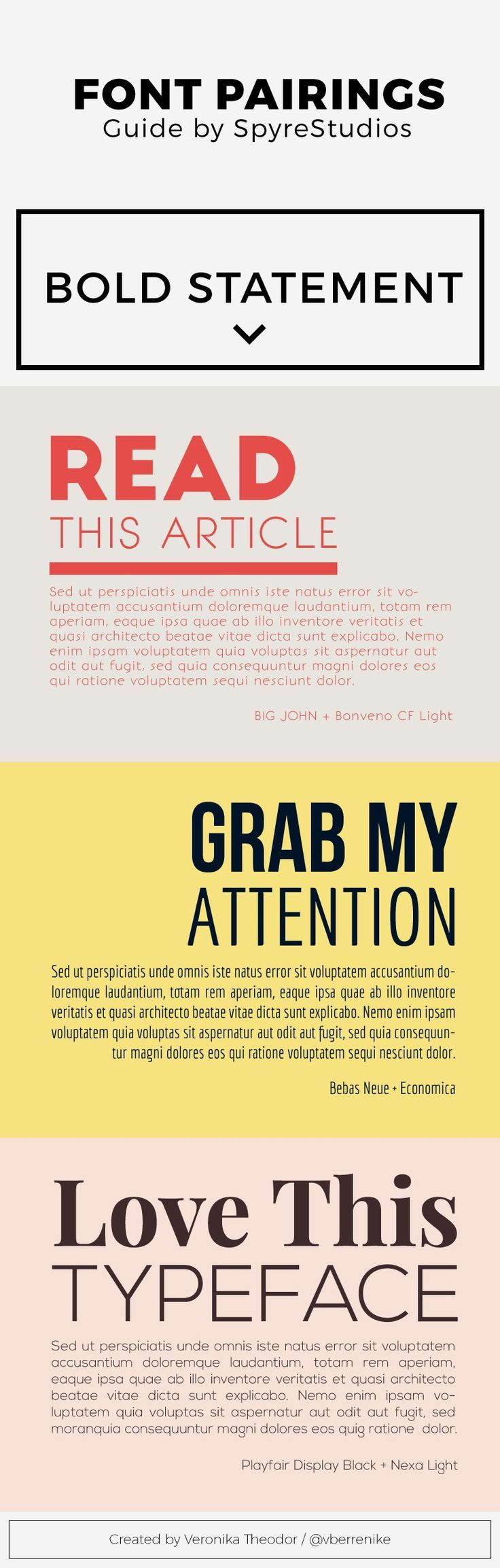 Catchy Free #Font Pairings For Headings and Paragraphs #typography ...