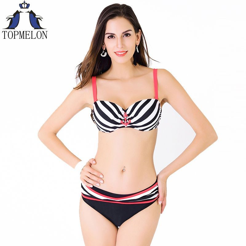 c5481d2cf6 Plus Size Swimwear Bikini Swimsuit Large Push Up Bikini Set Lady Bathing  Suit