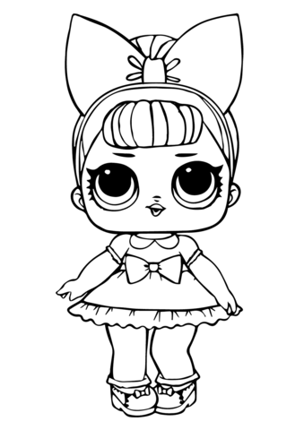 Fancy Glitter LOL Surprise Doll Coloring page Unicorn