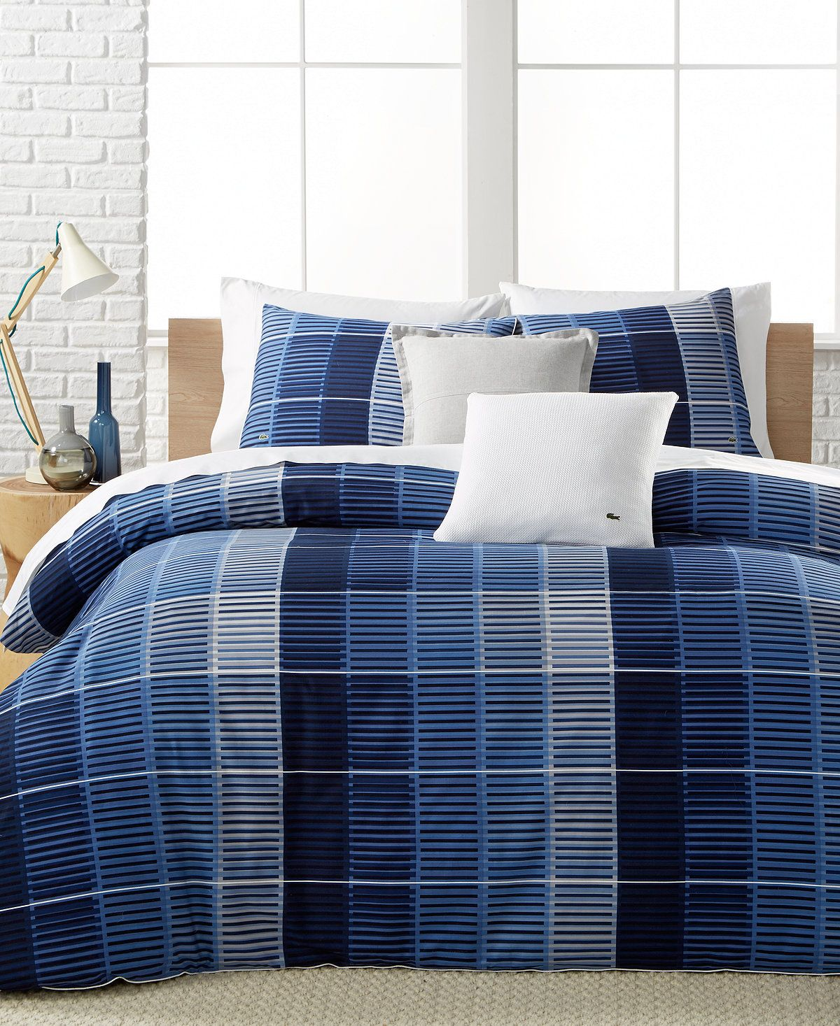 Lacoste Home Blue Albe Twin/Twin XL Comforter Set. A Macy