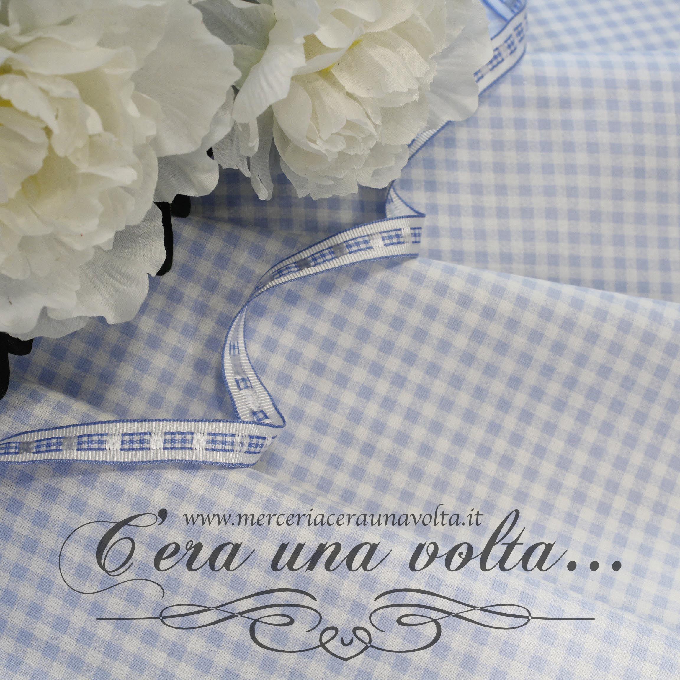 best loved 99c25 d62df Tessuto Fantasia Vichy Cielo | TESSUTI | Tessuti, Gonne ...