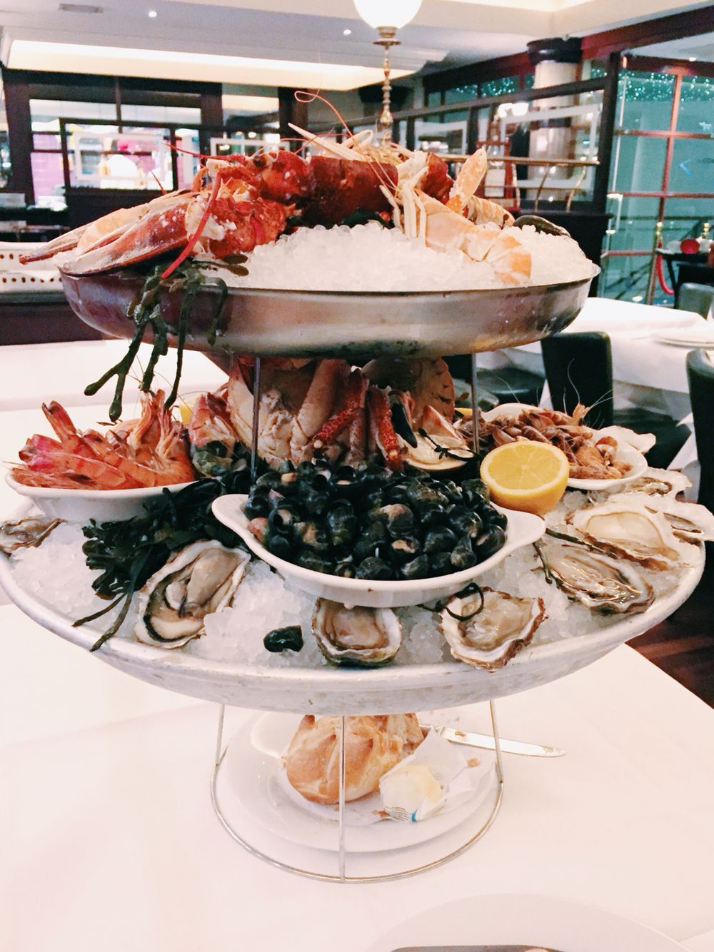 The huge-ass seafood platter
