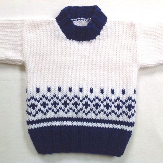Knit baby sweater - 6 to 12 months - Knitted baby clothes - Baby ...
