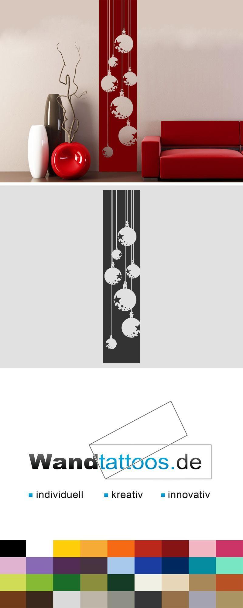 Wandbanner Weihnachtskugeln Als Idee Zur Individuellen Wandgestaltung.  Einfach Lieblingsfarbe Und Größe Auswählen. Weitere Kreative