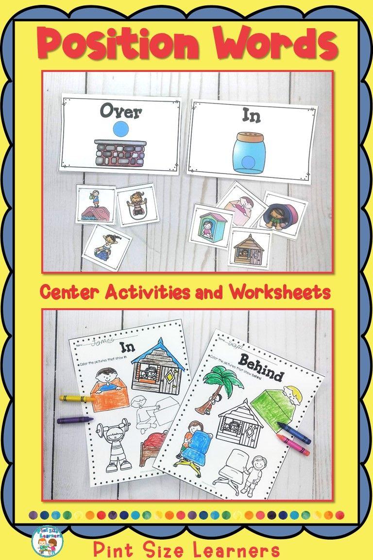 Math Position Worksheets Kindergarten