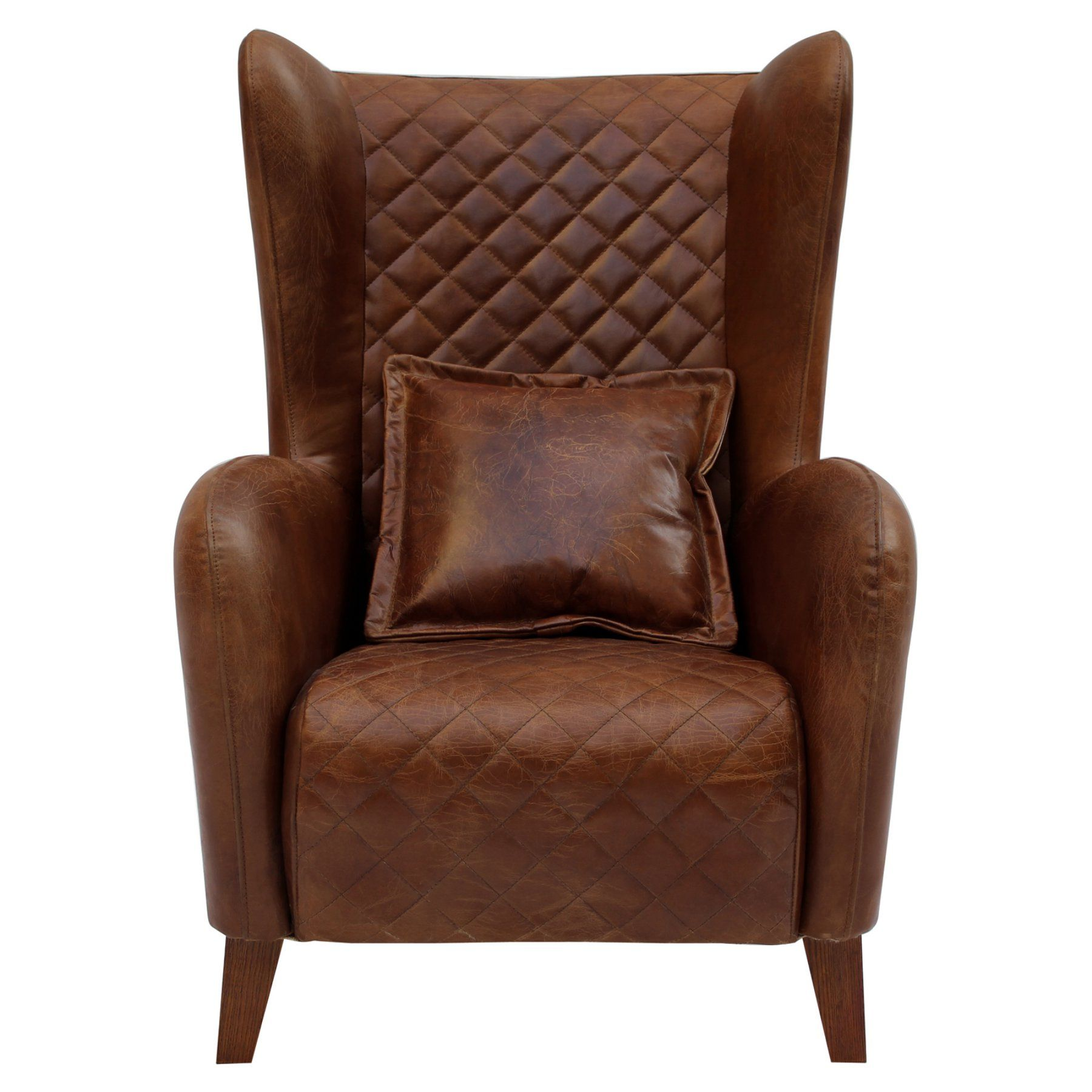 Cdi International Furniture Vintage Leather Tufted Accent Chair  Fa1098Br