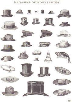 1900s Hats Men Illustrations of mens hats  232155122ef