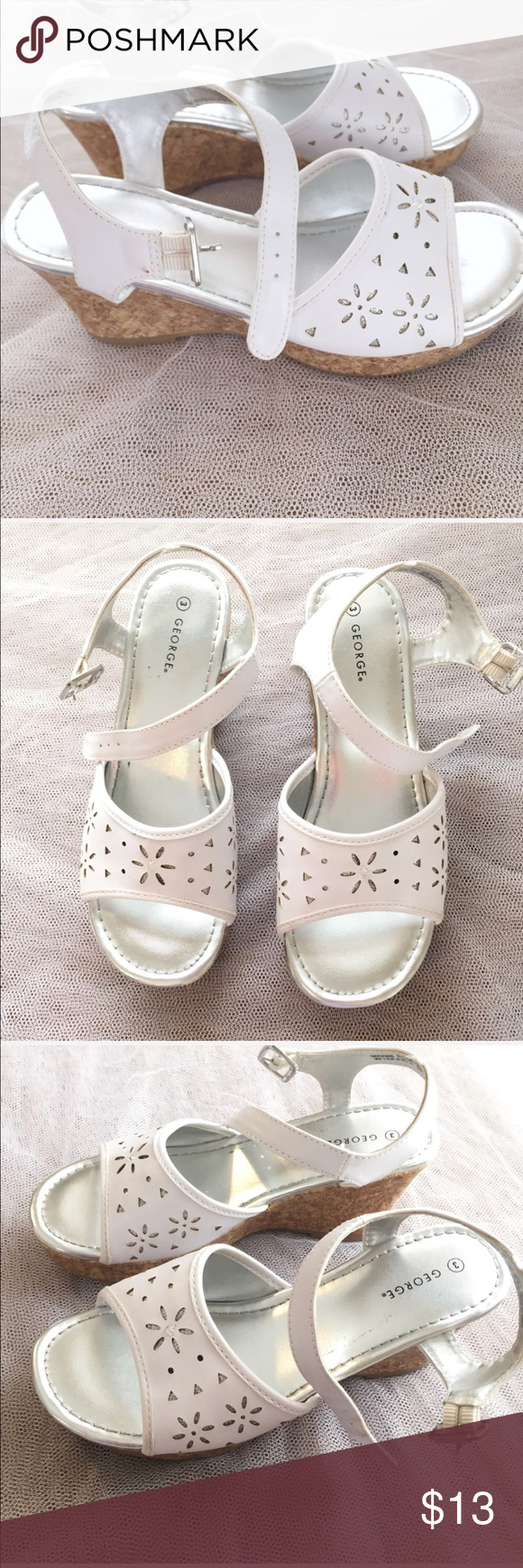 Silver Wedge Sandals Size