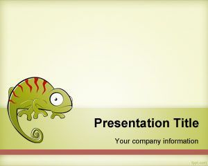 free chameleon powerpoint template background for presentations, Modern powerpoint