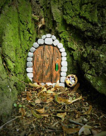 Dekoracja Ogrodu Balkonu Doniczki Pokoju Bajkowe Drzwi