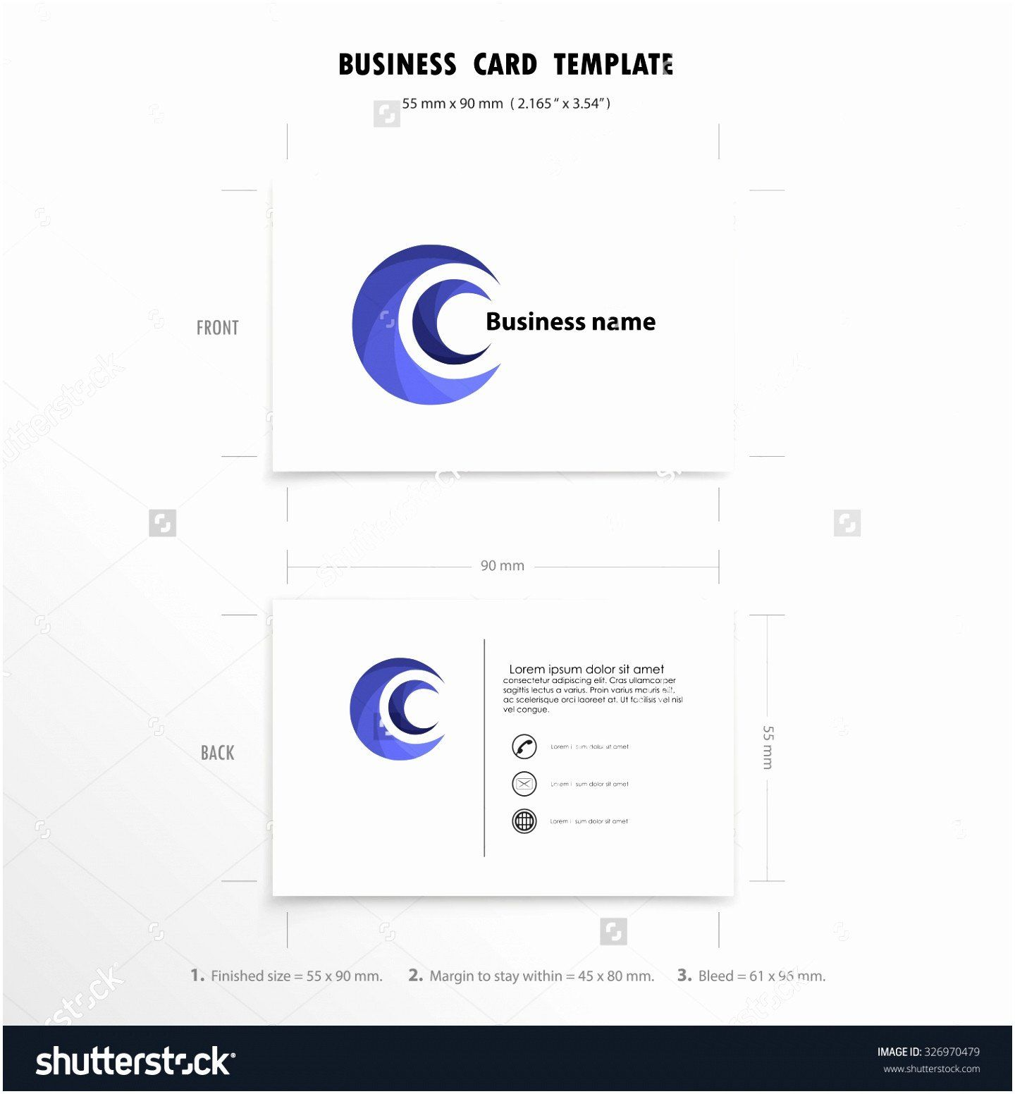 Excel Business Card Template 8 Name Card Size Template Qooye Business Card Template Card Template Free Business Card Templates
