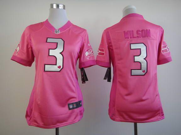 Nike NFL Seattle Seahawks 3 Wilson Pink Love Womens Jersey ...