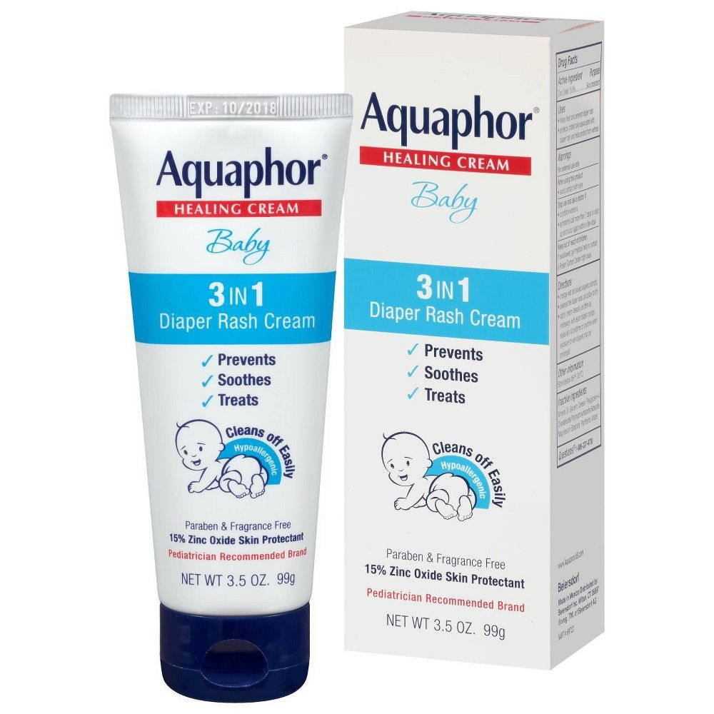 Aquaphor baby 3in1 diaper rash cream prevents soothes