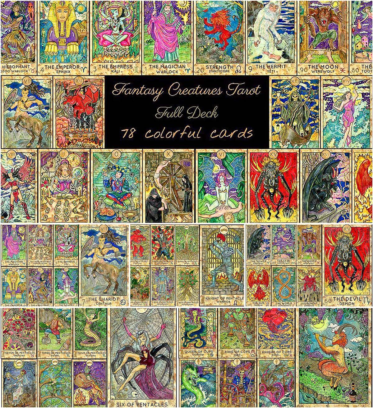 Fantasy world tarot full deck free download fantasy
